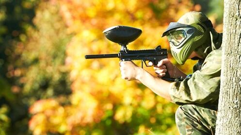 2h. de partida Láser Combat o Paintball + Reportaje fotográfico