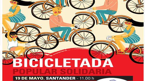 I Bicicletada Popular Solidaria Bridgestone en Santander el 19 de mayo a las 11.00 h.
