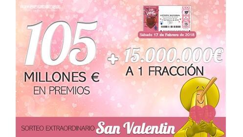 Peña Sorteo Extraordinario de San Valentin Loteria Nacional