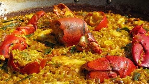 Menú de arroz con bogavante para dos
