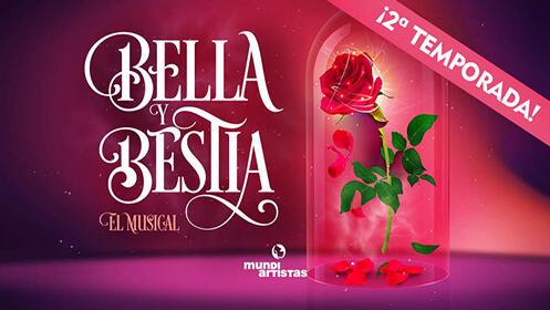 """Entradas para """"Bella y Bestia, El Musical"""" en el Teatro Salesianos, el 27 de diciembre a las 17.30 h. por 8.4€"""