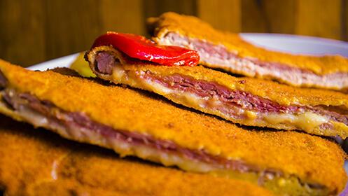Menú asturiano para dos con cachopo en Santander