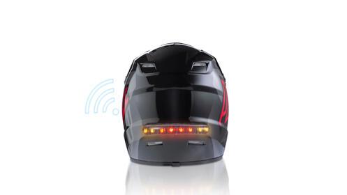 Luz de freno e intermitente wireless para casco