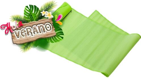 ¡Hola verano! Esterilla de playa plegable verde por 4.95€