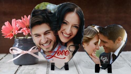 Fotopiedra Corazón personalizada para San Valentín