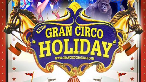 Entradas para Gran Circo Holiday en Tanos el sábado 13 o el domingo 14 de abril