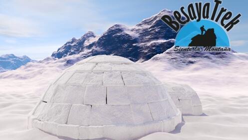 ¡Raquetas de nieve y  construcción de iglú!