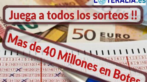Juega durante una semana a todos los sorteos, hay más de 40 Millones en juego.