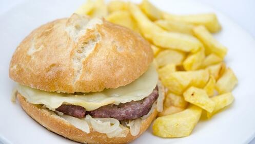 Menú de hamburguesa Low Cost