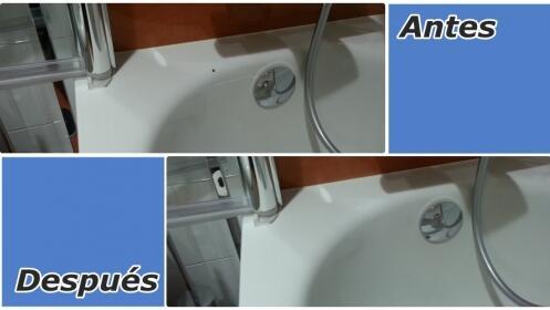 Arregla tu bañera o plato de ducha de desconchones