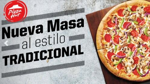 Pizza mediana o familiar en Pizza Hut