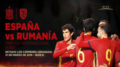 Entradas España - Rumanía Sub 21, 21 de marzo