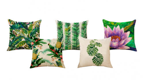 Pack de 5 cojines Tropical Pillow