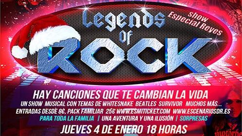 Entradas para Legends of Rock en familia el 4 de enero