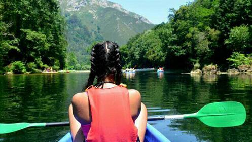 Descenso del Sella en canoa para una persona