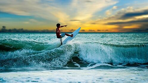 Curso de surf de 2 horas para 1, 2 ó 4 personas