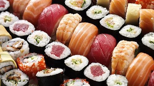 Bandeja de sushi de 20 ó 50 piezas en Sushi.es