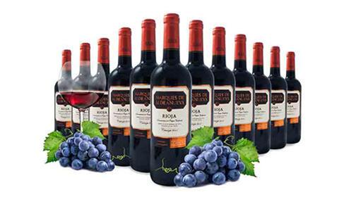 3, 6 o 12 botellas de vino Rioja Crianza Marqués de Aldeanueva